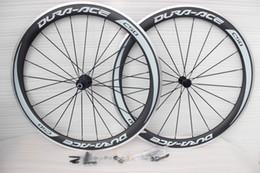 Wholesale Carbon Bikes Rims - DIY carbon bike wheelsets full carbon fiber road bikes wheels rims basalt brake carbon bicycle wheel with skewer+brake pad clincher wheelset