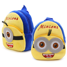 Wholesale Thanksgiving Minion - Cartoon Minions Backpack Baby Handbags Bags Kids School Bags High Quality Shoulders Boys Girls Bags Backpacks NLX1266