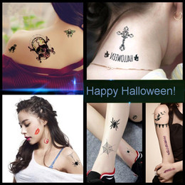 """Wholesale Cosplay Tattoo - Halloween masquera Waterproof Temporary Tattoo Sticker Cosplay Costume sexy party dress gifts decoration, size 3.9''*2.3"""", 5 items to choose"""