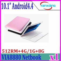 Wholesale Computer Netbook - 1pcs 10inch Mini Laptop Notebook Computer webacm 512 4G 1G 8G Via 8880 Android netbook laptops HDMI Integrated Graphics ZY-BJ-3