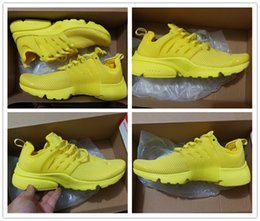 Wholesale Kids Glitter - New Arrival 2017 Air Presto Running Shoes Kids Women High Quality Yellow Outdoor Fashion Jogging Sneakers Athletic Shoes Size EUR 36-40