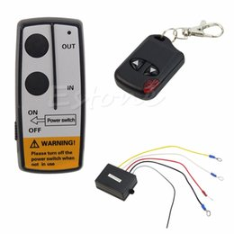 Wholesale Control Jeep - Wholesale-Hot 24V 50ft Winch Wireless Remote Control Set for Truck Jeep ATV Warn Ramsey