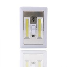 Wholesale Cordless Wall Lights - Magnetic Mini COB LED Cordless Light Switch Wall Night Lights Battery Operated Kitchen Cabinet Garage Closet Camp Emergency Lamp