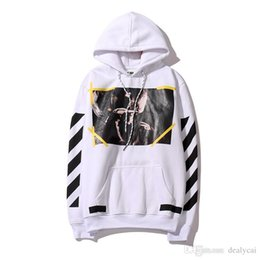Wholesale Log Off - 2017 New 100% Cotton Off White c o Virgil Abloh Caravaggio Hoodie BOX LOG Pullover Sweatershirt Long Sleeve Unisex size XXL Cheap Sale