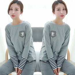 Wholesale Stylish Womens Tops - Womens Open Back Shirts long sleeve casual pullover loose tops stylish t shirt 2 colors sweatshirt free shipping
