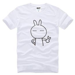 Wholesale Rabbit Tshirt - WISHCART Mens cartoon cute rabbit Keith yes Printed T Shirt Tshirt Men 2016 New Short Sleeve O Neck Cotton T-shirt Tee Camisetas Hombre
