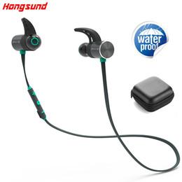 Wholesale Cell Microphone - Hongsund BX343 Wireless Headphone Bluetooth IPX5 Waterproof Earbuds Magnetic Headset Earphones With Microphone For Phone Sport plextone
