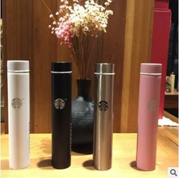 Wholesale Steel Thermal Mug - Colorful Classical Starbucks Stainless Steel Mug Starbucks Sucker Cup Starbucks Coffee Cup Long Bottle Thermal Insulation Water Bottle 485