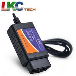 Wholesale Elm327 Software Free - Wholesale-Free Shipping ELM327 USB Interface OBD ii obd2 Car Diagnostic Interface Scan Tool ELM 327 USB Software Version V1.5