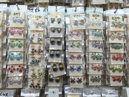 2019 pendientes de imitación de enchufe Cantidad superior de la manera exquisita exquisita joyería cristalina Ear Stud Earrings para mujeres mejor regalo al por mayor pares