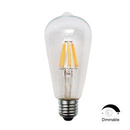 Wholesale Dimmable Led Light Bulb Cheap - ST64 8W LED Filament Light Bulbs E26 Best Cheap Dimmable Lights 110V 90Ra Edison Warm White LED Bulb