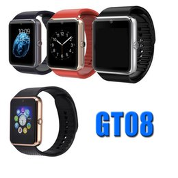 Wholesale Multi Camera Bluetooth - Multi-functional GT08 Smart Watch Bluetooth SIM Card Slot Wearable With HD Camera For IOS & Andrid Smartwatch