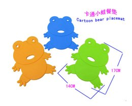Wholesale Silicone Insulated - Cute little frog mat Food grade silicone cartoon cup mat Resistance to high temperature oven with insulating pad