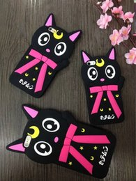 Wholesale Phone Case Rubber Cartoon - For IPhone 8 7 Plus 7G IPhone8 6 6S SE 5 5S 3D Nana Cat Soft Silicone Case Cute Lovely Cartoon Big Eye Star Rubber Phone Skin Cover Luxury