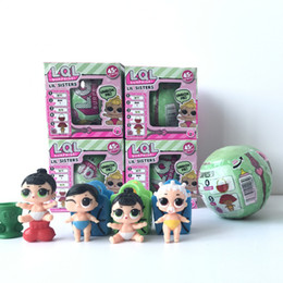 Wholesale Wholesale Doll Boxes - Lil Sisters Series 2 LQL LOL Surprise Doll With Retail Box 7.5cm Girls Doll Tear Change Egg Can Spray Realistic Baby Toys