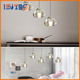 Wholesale Living Sphere - 2017 Modern clear gold crystal glass sphere chandelier g4 3 5 7 15 26head pendant lamp Meteor Rain ceiling light stainless steel base