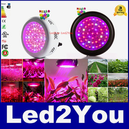 Wholesale Led Lights Vegetables - 2pcs Newest UFO 150W Led Grow Light Full Spectrum 50X3W Led Chip Plant Growing Lamp For Flower Vegetables EU AU US UK Plugs