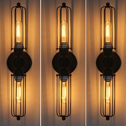iluminación industrial vintage diy Rebajas RH loft DIY rústico Edison Lámpara de pared lámpara vintage Aplique Industrial Steampunk Lighting Lámpara regulable Doble iluminación de espejo alargado