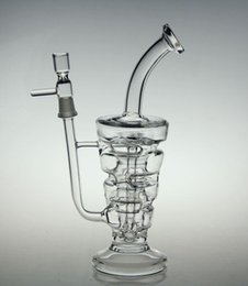 Wholesale Bong New glass bong Hitman Glass Sundae stack oil rigs water pipes thick and sturdy glass with mm male joint