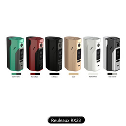 Wholesale Original Back Cover - wismec reuleaux rx2 3 box mod 200w TC mod with replaceable back cover for 18650 2 cells or 3 cells 100% Original