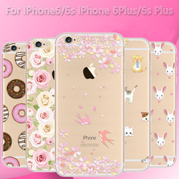 Wholesale Drawing Pattern Case - Phone case for iPhone 5 6 6 plus 7 7 plus Silicone Back Cover Coloured Drawing Pattern Soft Gel Silicone phone case