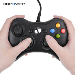 Wholesale Official Microsoft Controller - Wholesale- DBPOWER USB Wired Joypad Gamepad Black Controller For Xbox 360 Joystick For Official Microsoft PC for Windows 7   8   10