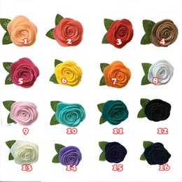 Deutschland 15% Rabatt! 4 cm filze Blumen Stoff Blume DIY Haarschmuck Baby Stirnbänder Kleidung schuhe und hüte zubehör broschen zubehör 100 teile / los cheap diy baby shoes Versorgung