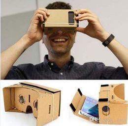 Бесплатная быстрая доставка 500 шт. DIY Google Картон Виртуальная реальность VR Мобильный телефон 3D-очки для 5.0