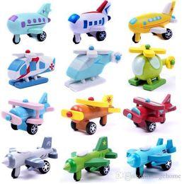 Бесплатная доставка 12 шт./лот деревянный мини-модель комплект самолет Самолет Вертолеты авиалайнер истребители детские подарки от Поставщики комплект силиконовой пробки