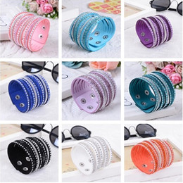 Wholesale Cheap Indian Bangle Bracelets - 2016 Fashion Multilayer Wrap Bracelets Slake Deluxe women's Leather Charm Bangle bracelet With Sparkling Crystal Women Fine Jewelry cheap