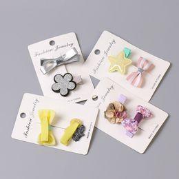 Wholesale cute korean girl hair accessories - Korean Hairpins Girls Mini Cute Hair Clip For Toddler Kid Hair Crown Hair Accessories Multi-color Available