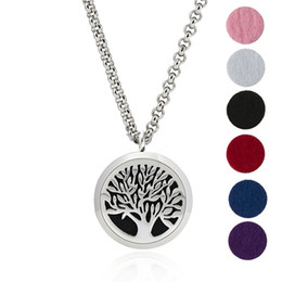 "Wholesale 316l Chain - Premium Aromatherapy Essential Oil Diffuser Necklace Locket Pendant, 316L Stainless Steel Jewelry with 24"" Chain and 6 Washable Pads"