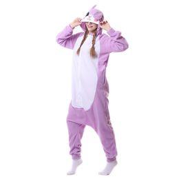 Wholesale Lady Rabbit Costume - Women's Hooded Long Sleeve Pajamas Sleepwear Cute Purple Rabbit Animal Cartoon Pajama Sets Ladies Casual Home Clothing