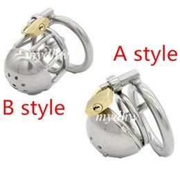 Wholesale Male Chastity Gimp - Latest Design Stainless steel Male Boundage chastity Shortest Cage Urethral Tube Gimp GAY BDSM Sex Toy Adult Products