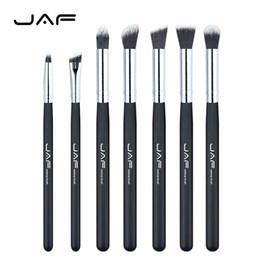 Wholesale Eye Shading Brush - JAF Brand 7 pcs set Professional Portable Makeup Brushes of Eye Blending Eyeshadow Smudge Shading Brushes