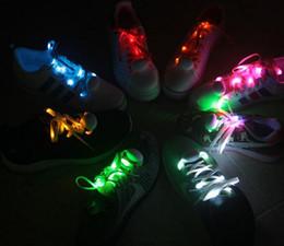 Wholesale Gadget Shoes - 2017 LED Gadgets Light Up Flash Glowing Shoelaces LED Lamp beads Flashing Shoe Lace Fiber Optic Shoelace Luminous For Christmas Party