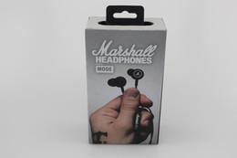 Wholesale cell phone ear buds - Marshall MODE headphones in ear headset black earphones with mic HiFi ear buds headphones universal for mobile phones