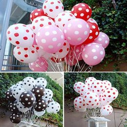 Wholesale Classic Toys Wholesale - 50pcs lot 12 inch 3.2g Mixed colors Helium Inflatable Latex Balloons Polka Dot Pearl Birthday Wedding Festival Classic Toys