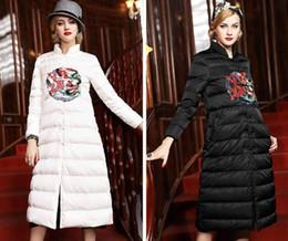 Wholesale China Fashion Coat - 2017 New Fashion Long Winter Jacket Women Slim Female Coat Thicken Parka Down Brand Long China Style Dragon Embroidery Down Coat