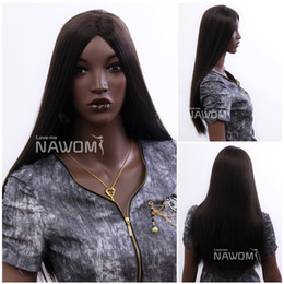 Wholesale Wigs For Black People - 3402 NAWOMI Long Straight Wigs For Black People Dark Brown Colors African Women Wig High Grade Noble Wigs
