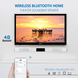 Wholesale Home Theater Sound - SLIMLINE WIRELESS BLUETOOTH HOME THEATER SOUNDBAR SPEAKER WITH BUILT IN SUBWOOFER AND OPTICAL AUX 3D SURROUND SOUND BAR FOR TV