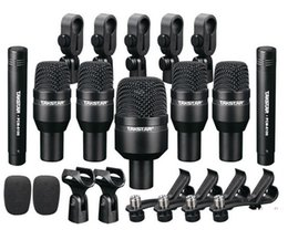 Batterie microfoni online-New Hot drums Pick up dinamico per basso elettrico Takstar DMS-D7 Set di batteria set di serie 7 Microfoni Kit microfono a condensatore DHL / EMS