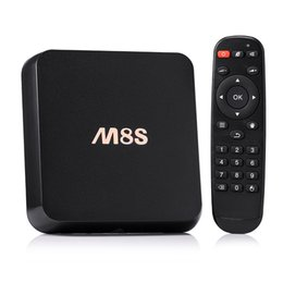 Wholesale Tv Channel Wholesale - M8S s812 2GB ott tv box Online Update 4K Smart Android TV Box Quad Core 2GB 8GB Box Stream Video Sports Program Channels
