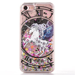 Wholesale hard plastic horse - Cute Cartoon constellation horse quicksand hard PC back case For iPhone 5 5S SE 6 6s 6 plus 6S plus 7 7 plus Phone Cases Cover