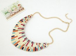 Wholesale Swarovski Necklaces China - European Wind Necklace Metal Shell Sector Temperament Dickie You Short Money Chain Stainless Steel Jewelry Locket Necklaces Swarovski