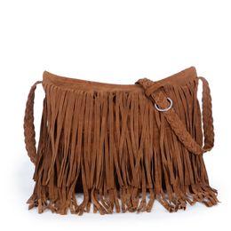 Wholesale Style Leather Bag - Tassel Bag Ladies 2016 Hot Selling Women 's Nubuck Leather Bag Fashion Trendy European&Amercia Style Messenger Bags GQ1530