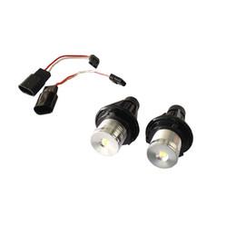 Wholesale red led halo - 1pair X E39 3W Epistar Led Angel eyes Fit For E60 E61 E63 E64 E65 E66 Halo Light Lamp