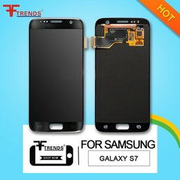 Wholesale Galaxy Touch Screen Digitizer - Original for Samsung Galaxy S7 LCD Display Touch Screen Digitizer Assembly G930F G930FD G930A G930P G930 G930V G930T 100% Test Free Ship