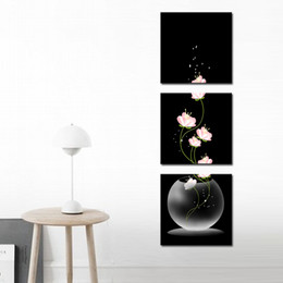 Wholesale Still Life Oils - Night Beautiful Still Life Oil Paintings the Flowers 3-Pieces Landscape for Living Room Home and Wall Decoration