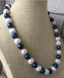 Wholesale Sea Green Necklace - Fine Pearls Jewelry gorgeous 12-13mm south sea baroque multicolor pearl necklace 19inch 925s